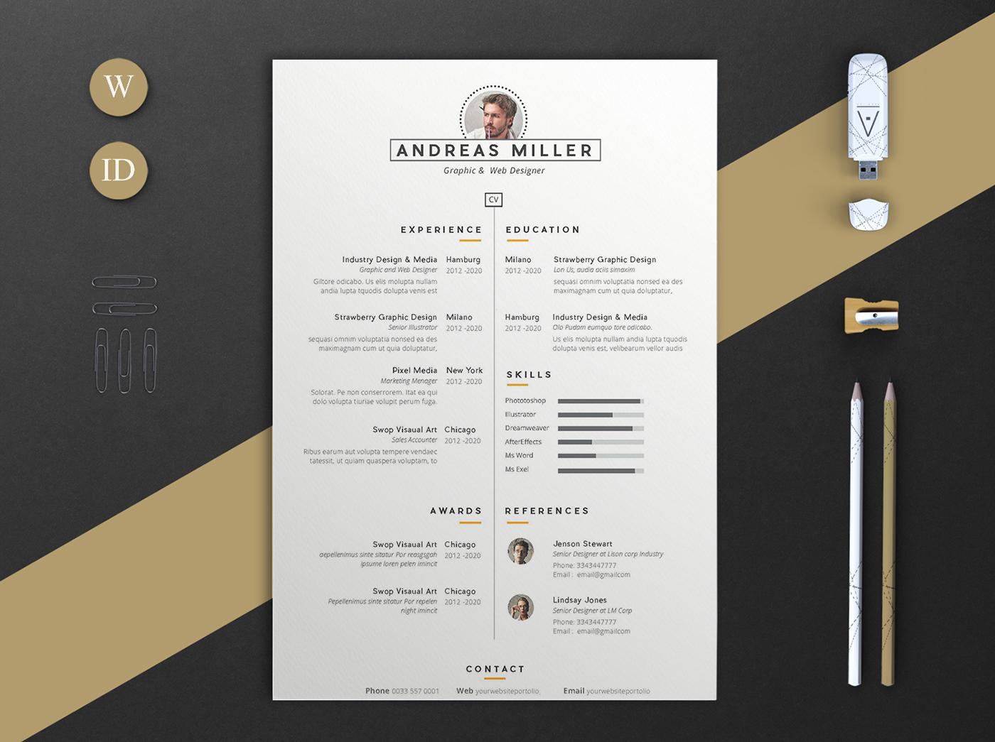 細緻的23個履歷表設計欣賞