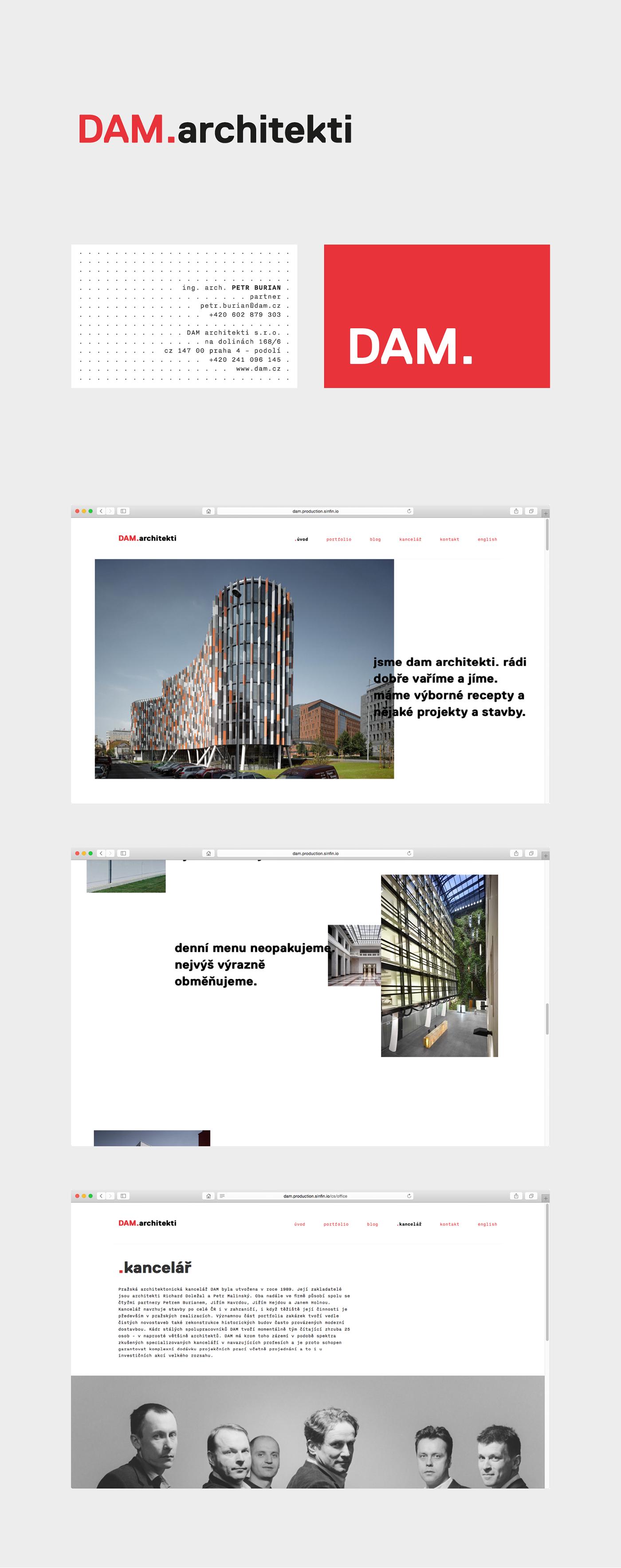Website Web architecture architects logo branding  minimal