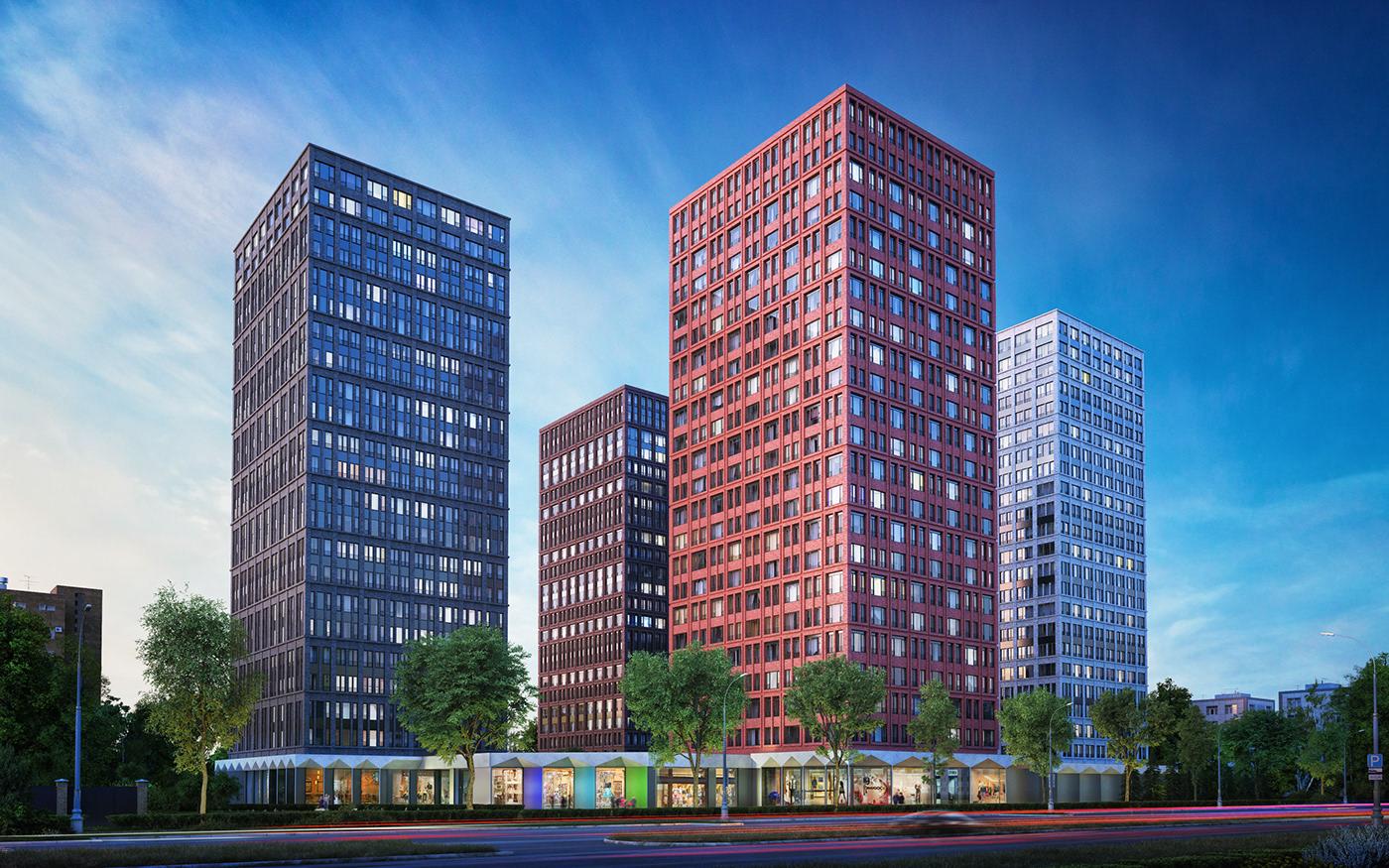 3D apartment architecture development granum modeling modelling rg thegranum