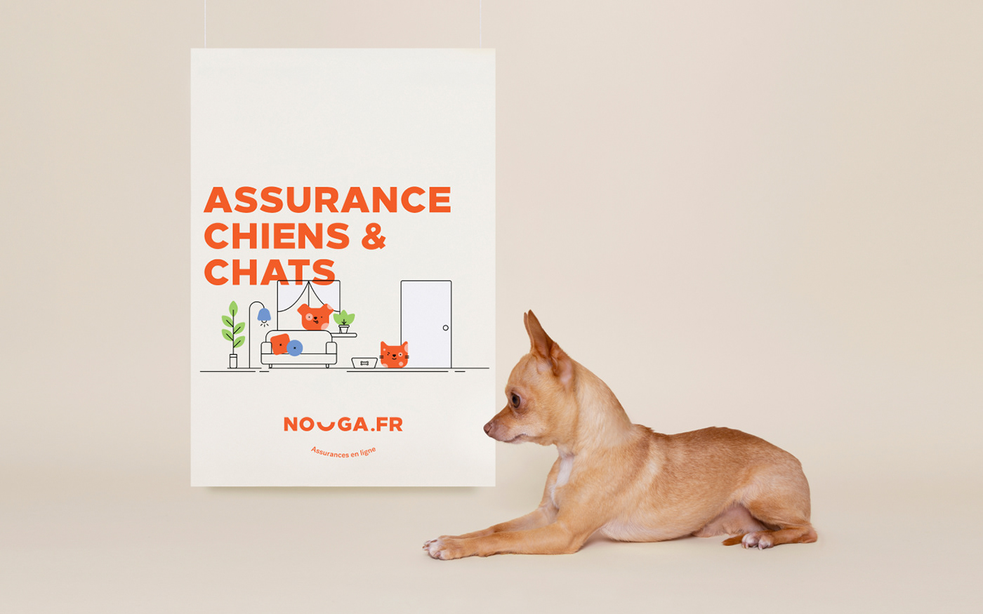 Cat and dog insurance, Assurance chiens et chats poster