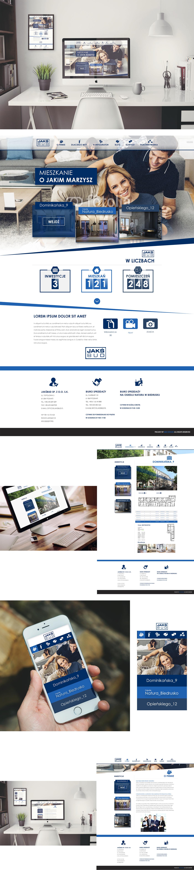 projekt deweloper budowlany firma budowlana webdesigns Web mm designs mmdesigns marcin micewicz poznan rwd photoshop