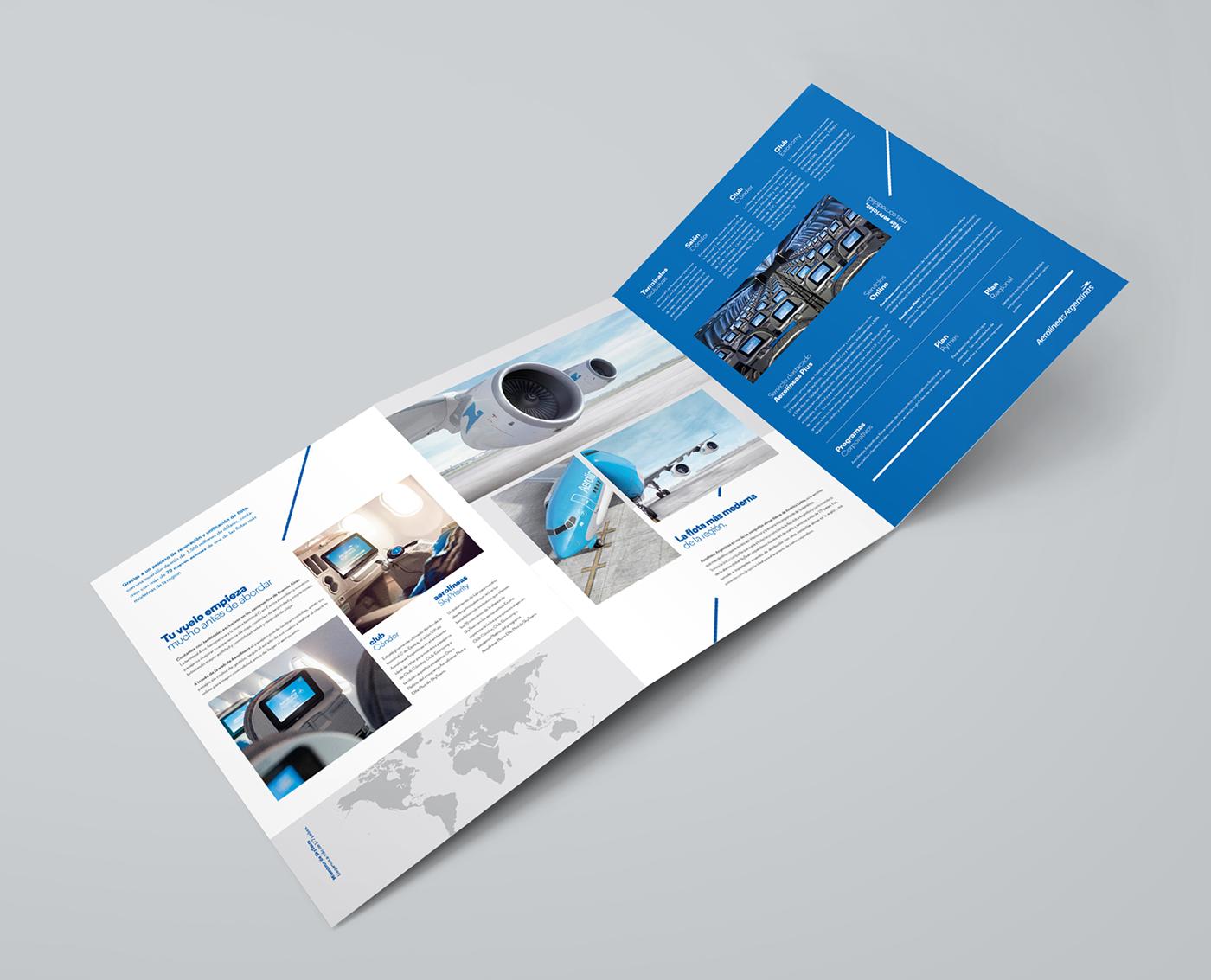 aerolineas SKY plane Aeroplane airline brochure editorial design graphic type