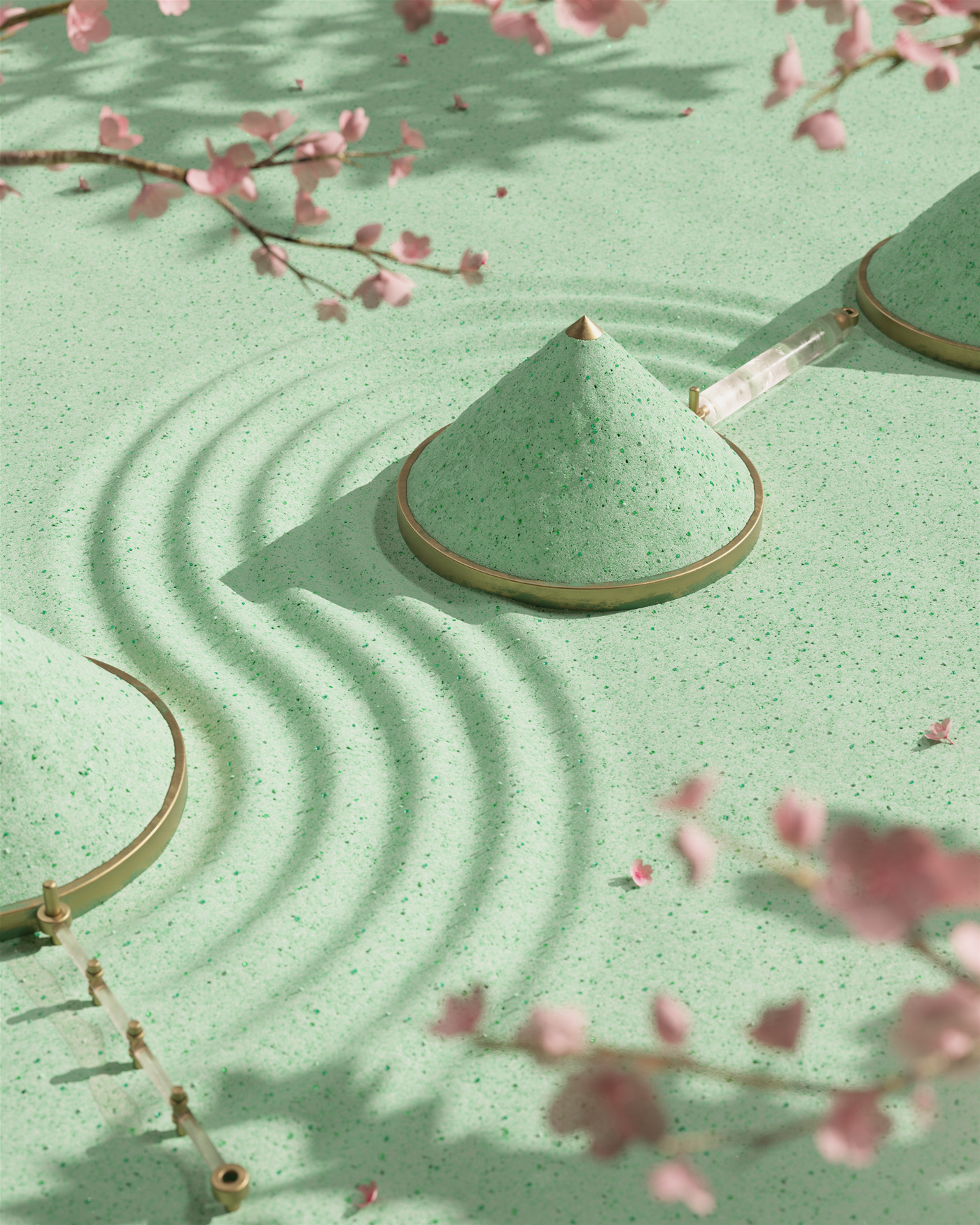 calm meditation rake zen breath japan loop pastel seamless soft