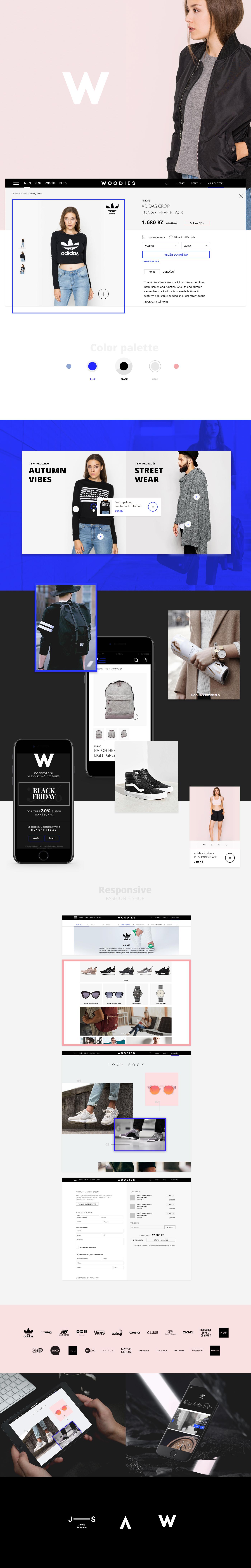 e-commerce e-shop design user experience Fashion  Czech UI Webdesign store online store