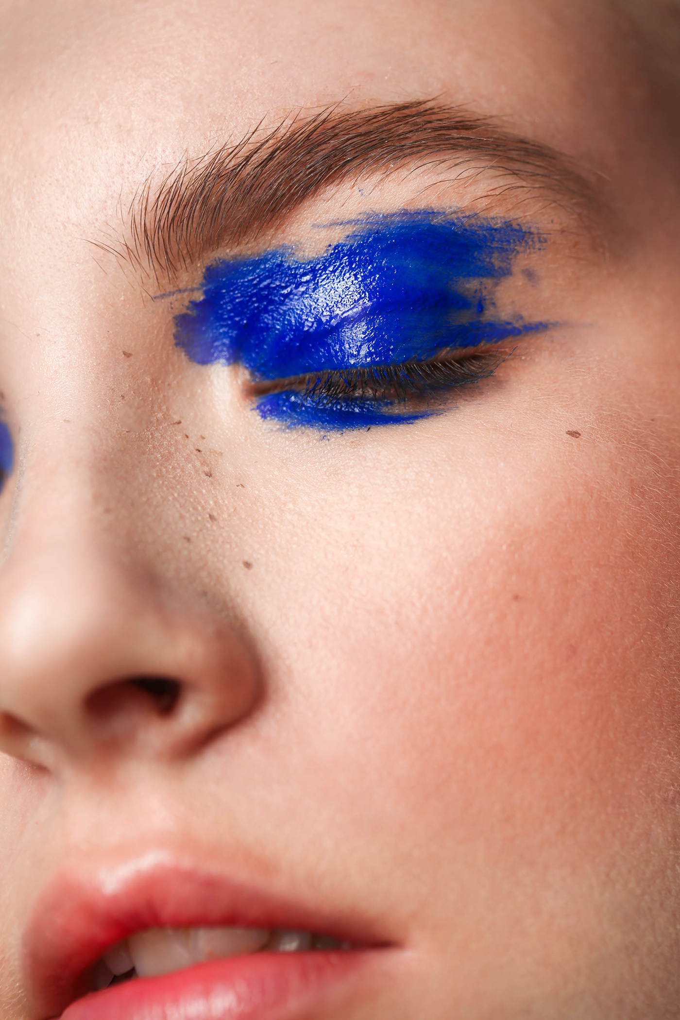 creative macro makeup Photography