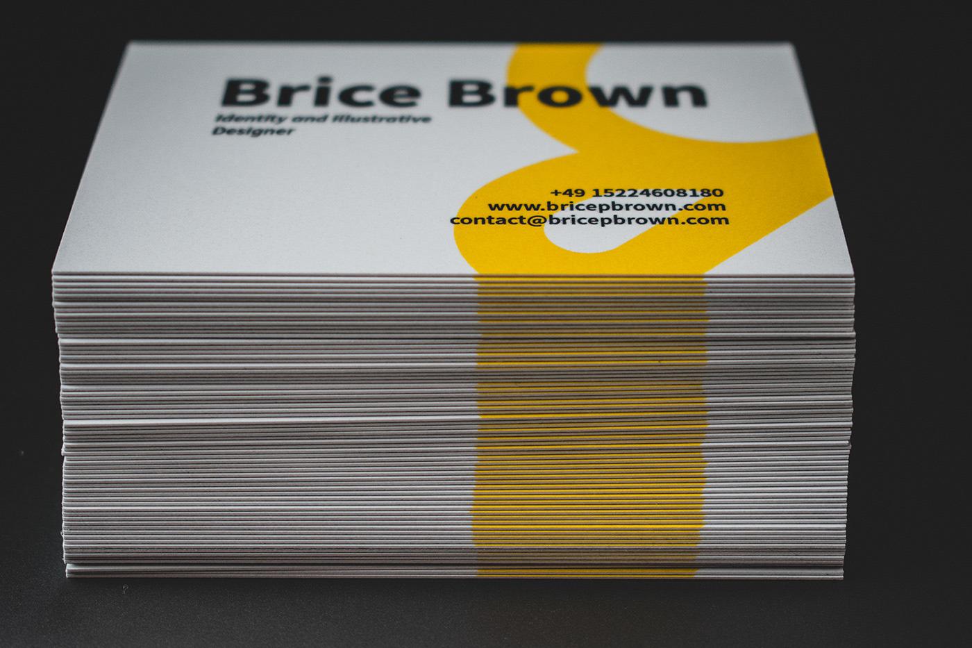logo business card identity brand personal branding self branding Illustrator modern curve