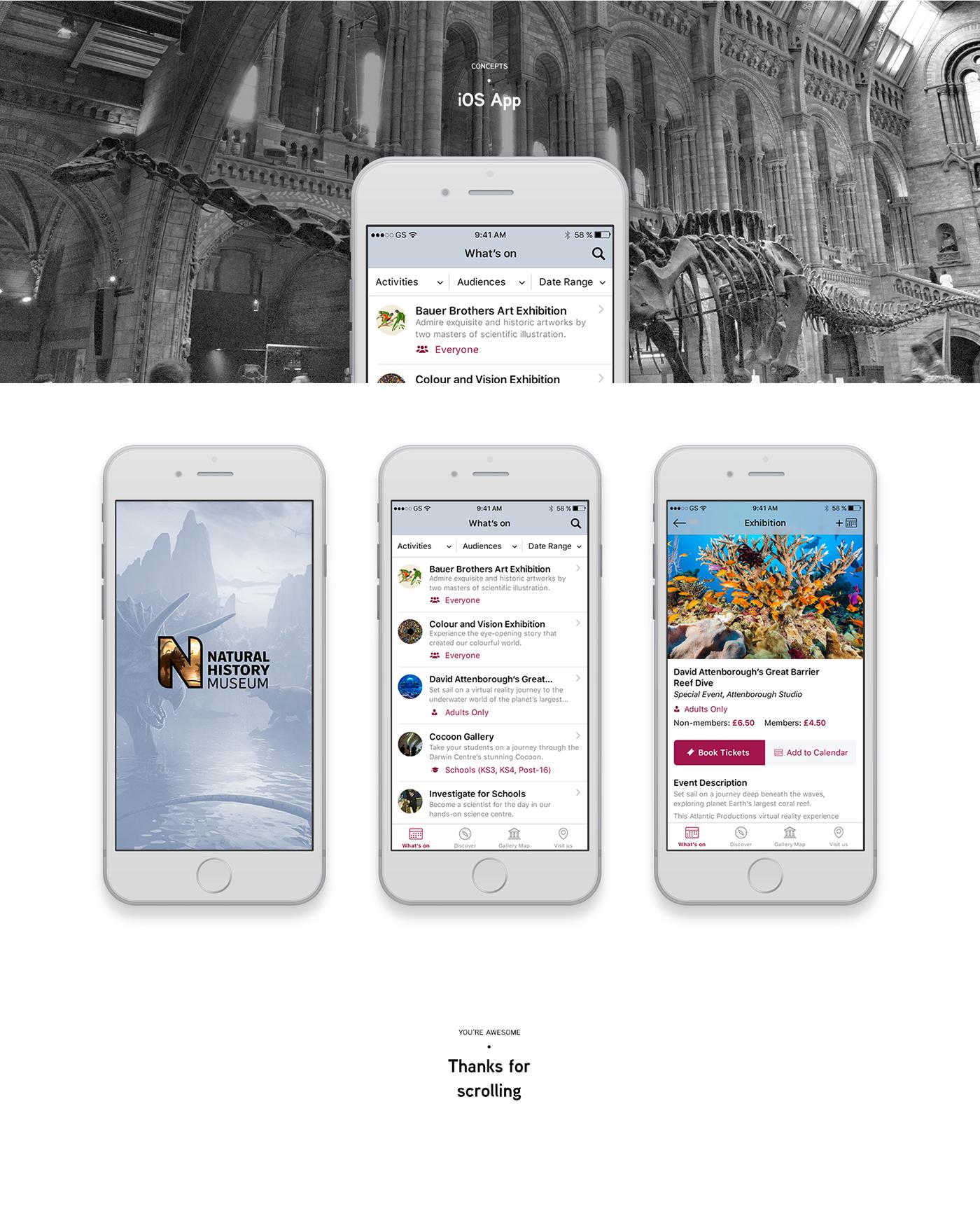Website,concept,photoshop,natural history museum,Web Design ,ios,app,clean,minimalist,Education
