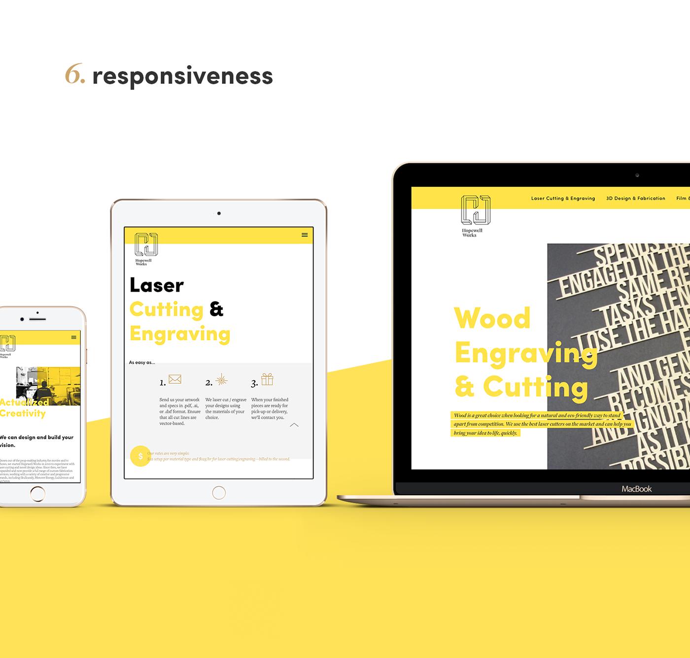 visual identity Web Design  portfolio fabrication Responsive