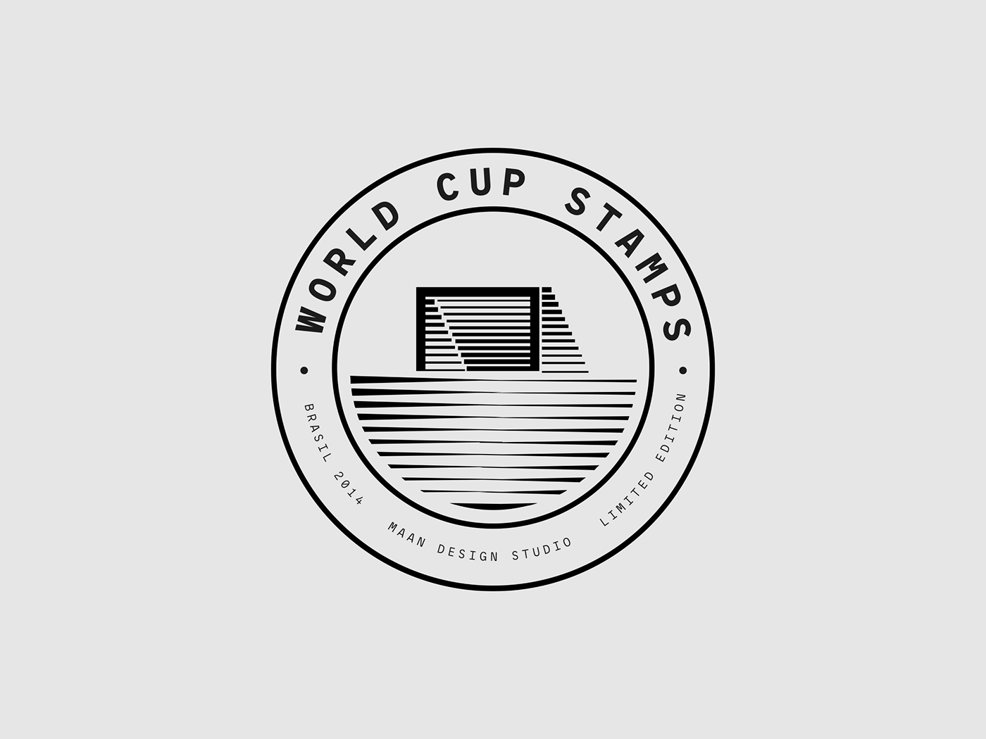 maan graphic print stamp Collection world cup Brazil football soccer geometric composition minimal color studio