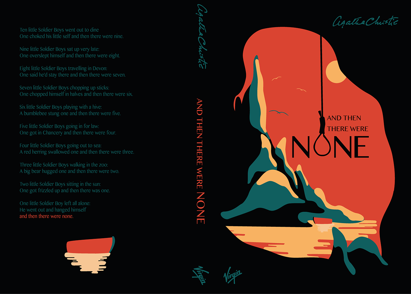 Book Cover Design Research : Book cover design and then there were none on behance