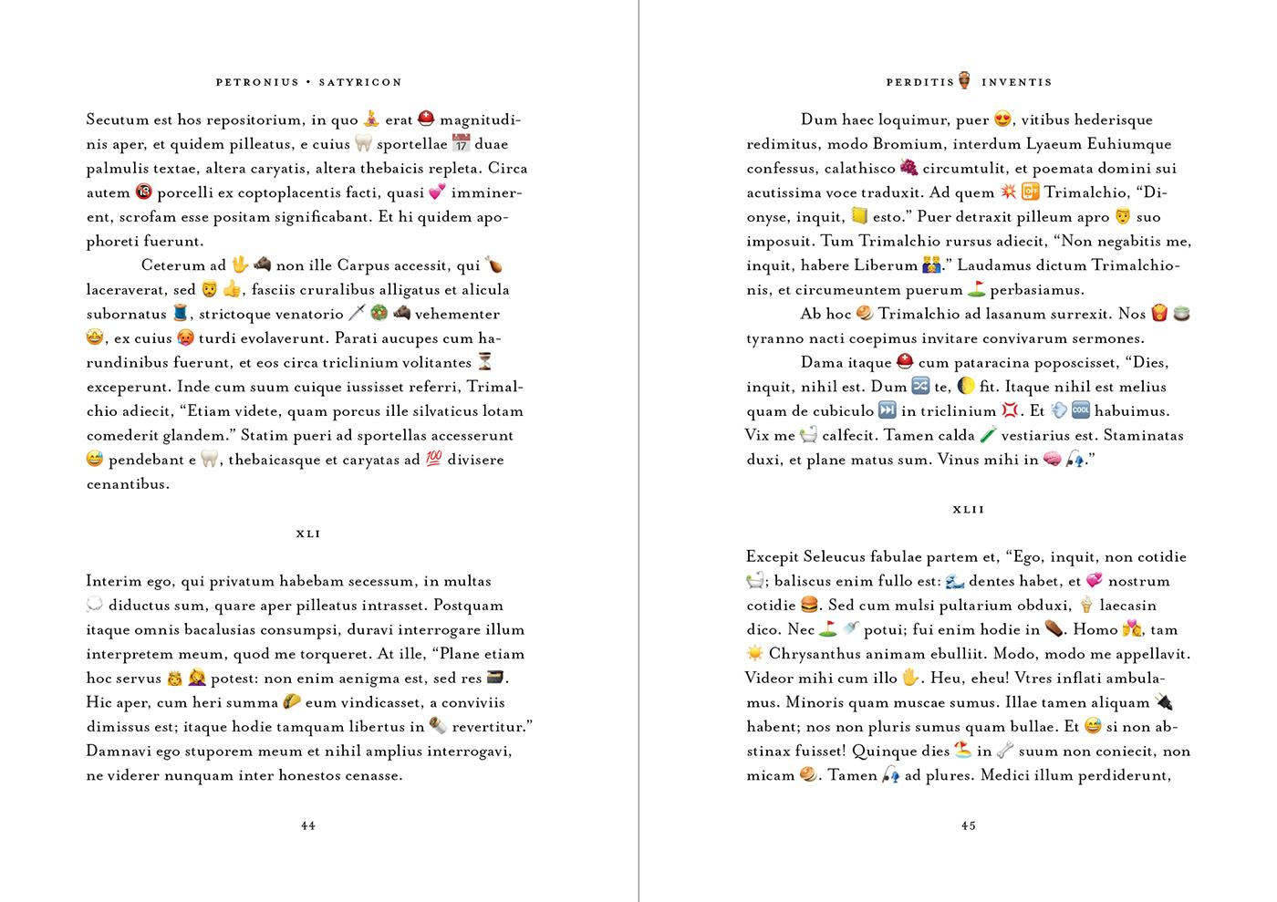 Emoji Latin book code transcode Wordplay translation critique