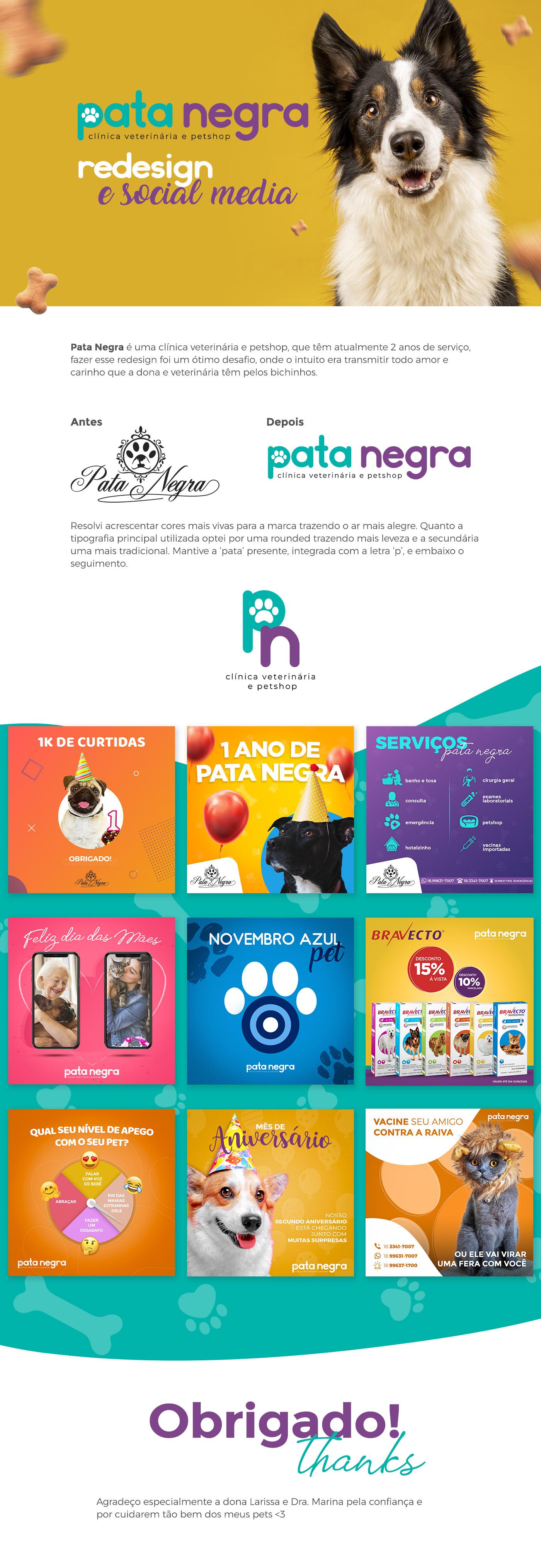 clinica veterinaria facebook instagram petshop posts redesign social media