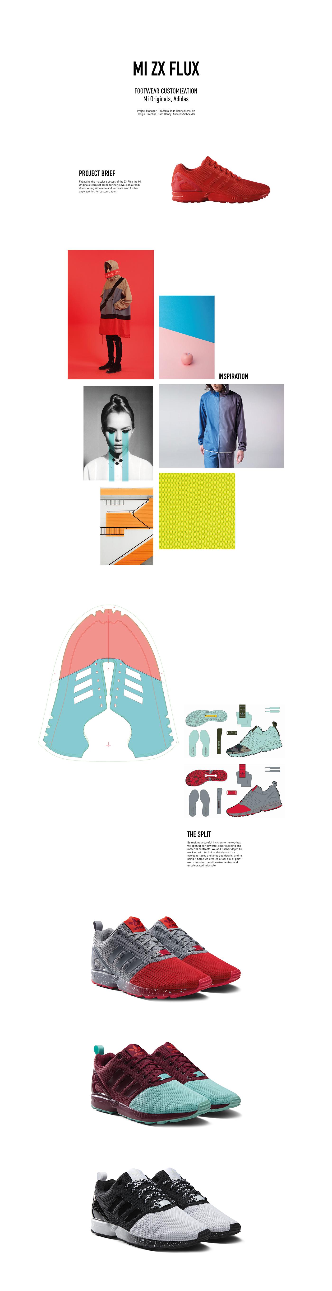 adidas Originals ZX Flux Men's Running Shoes Red/Red/Red