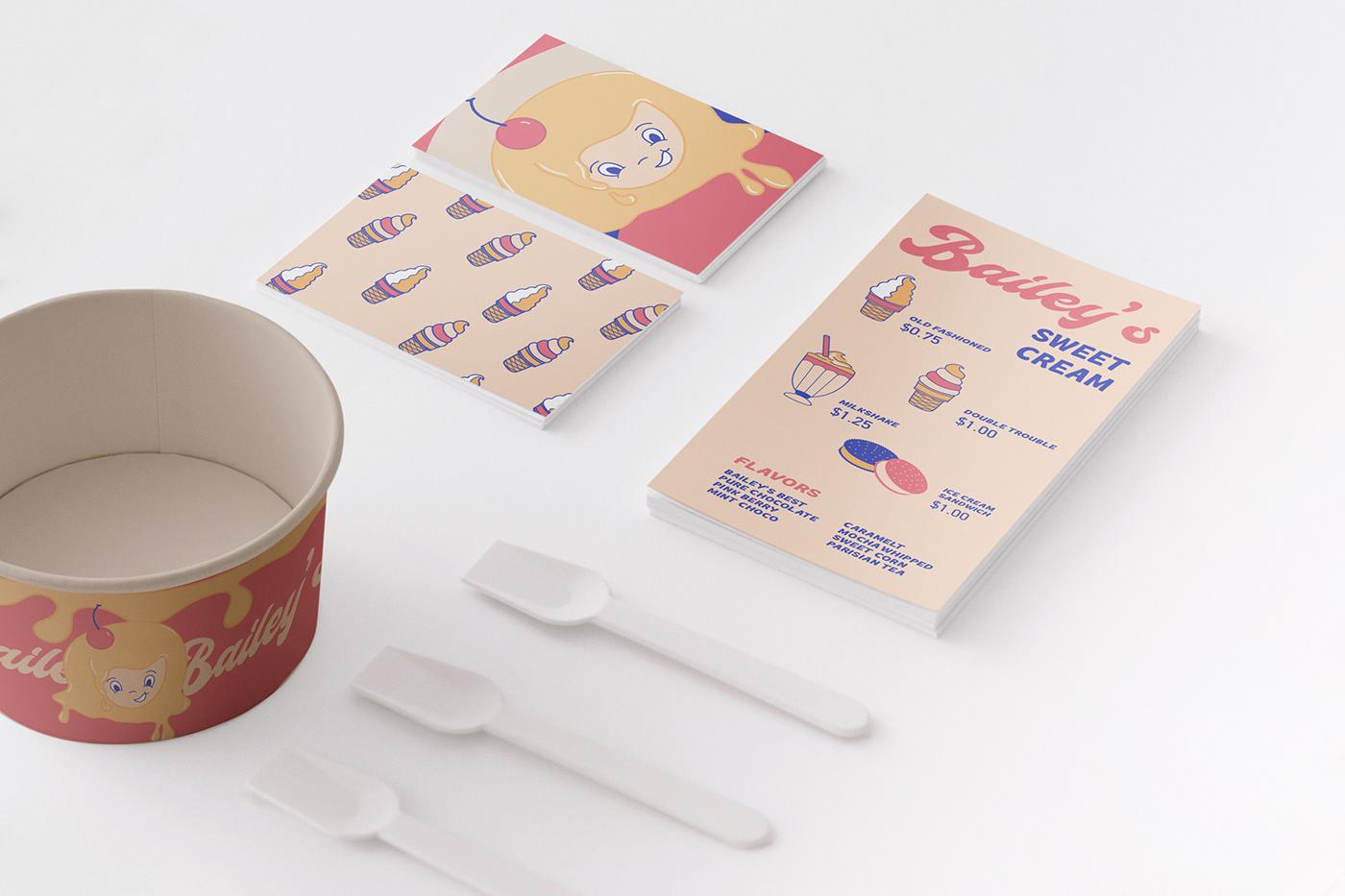 Brand Design Branding design ice cream ice cream branding Identity Design logo Logo Design logo identity
