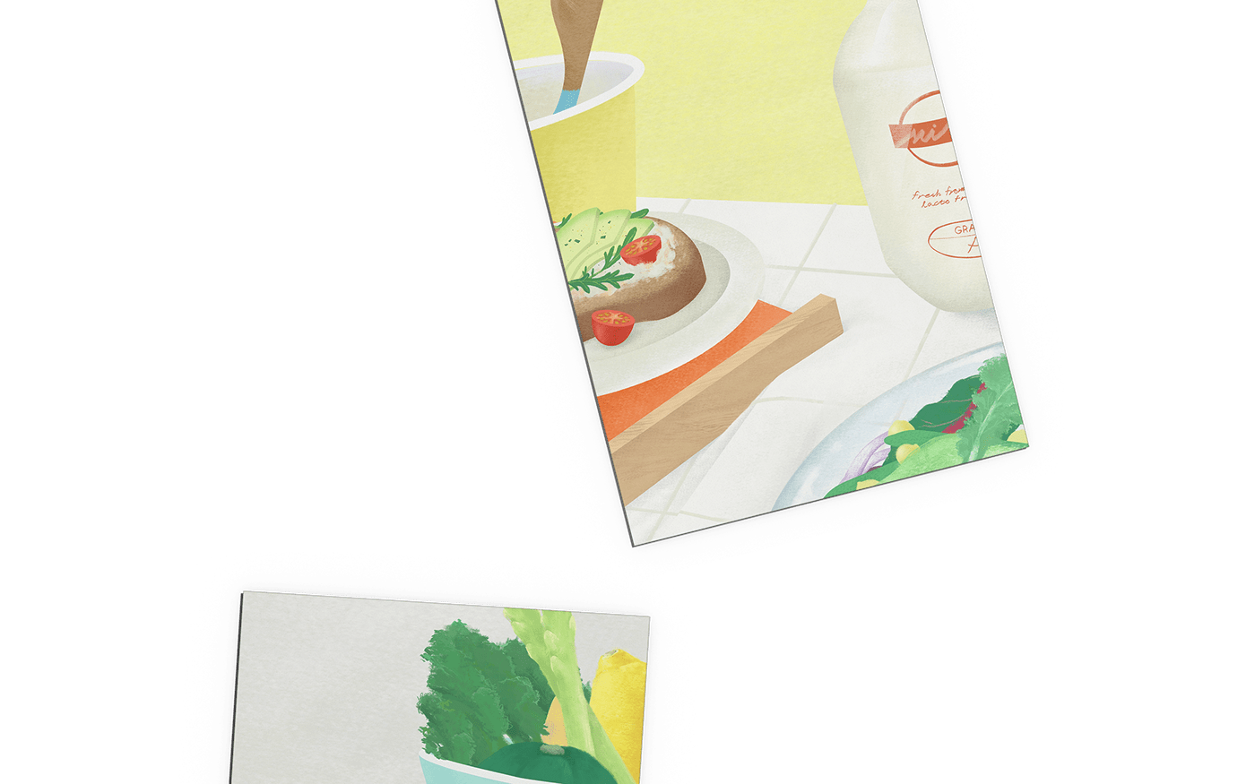 cook design environment graphic graphic design  ILLUSTRATION  Layout Layout Design still life vegan