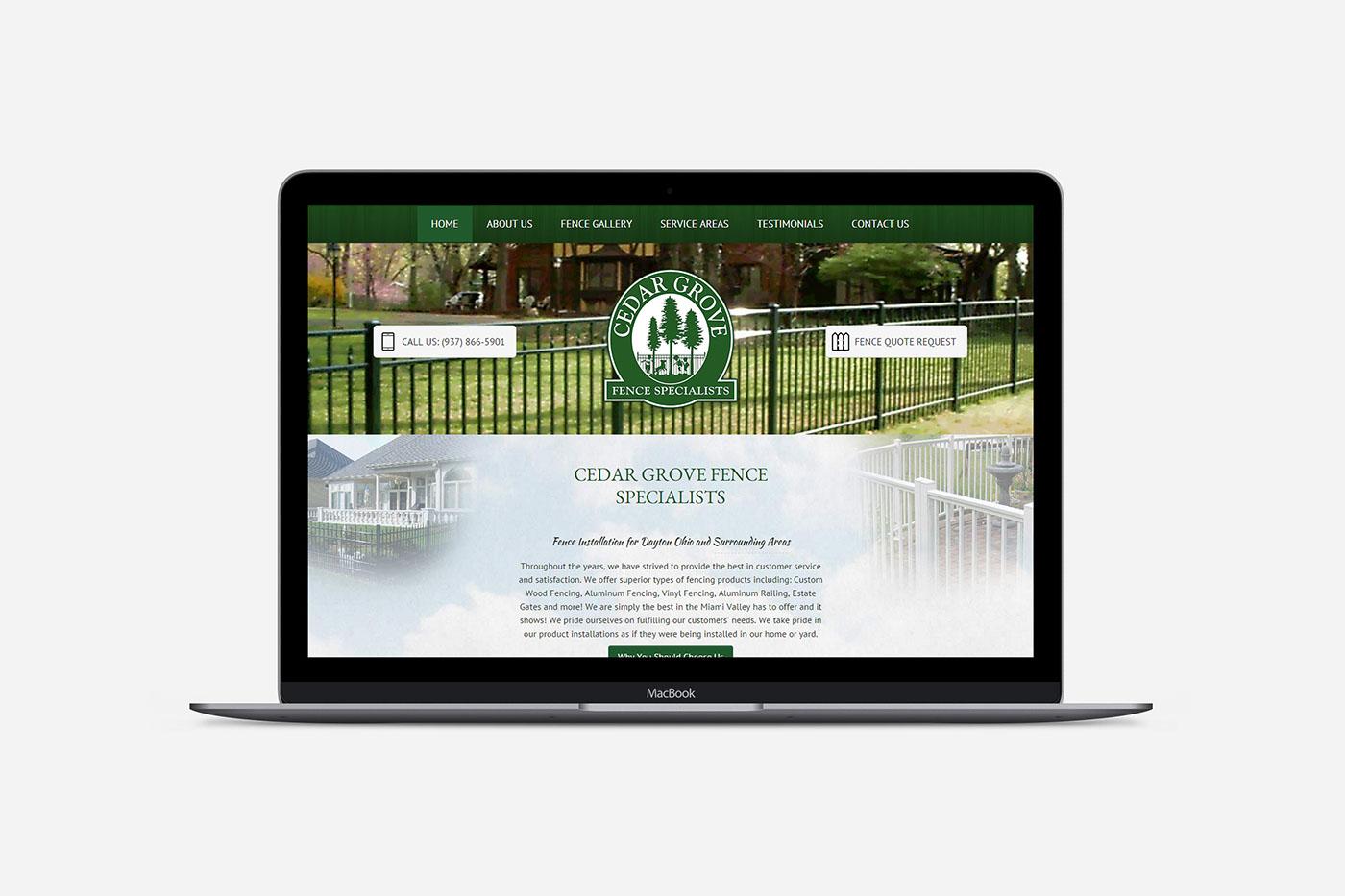 Responsive mobile-friendly cedar grove Fence Installer
