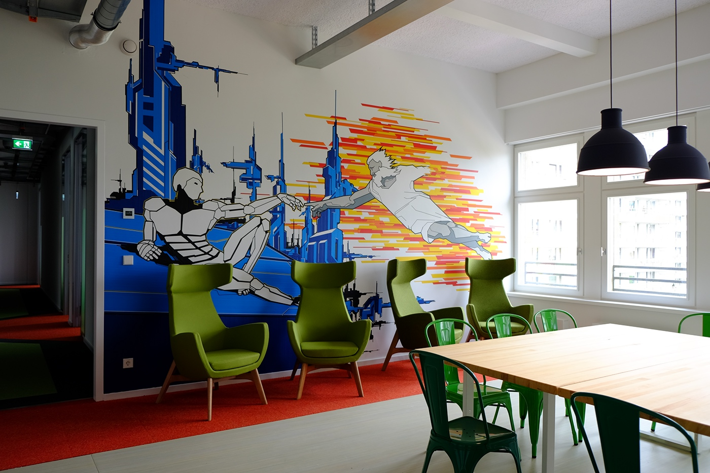 klebebande Tapeart art klebekunst Innenraumgestaltung Interior