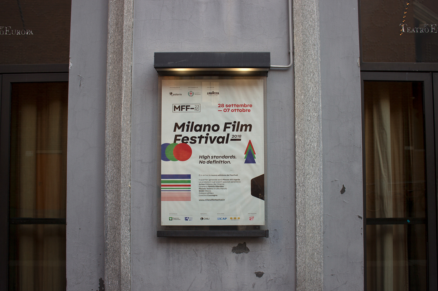 milano Film   festival graphic design  vhs branding  visual video Cinema