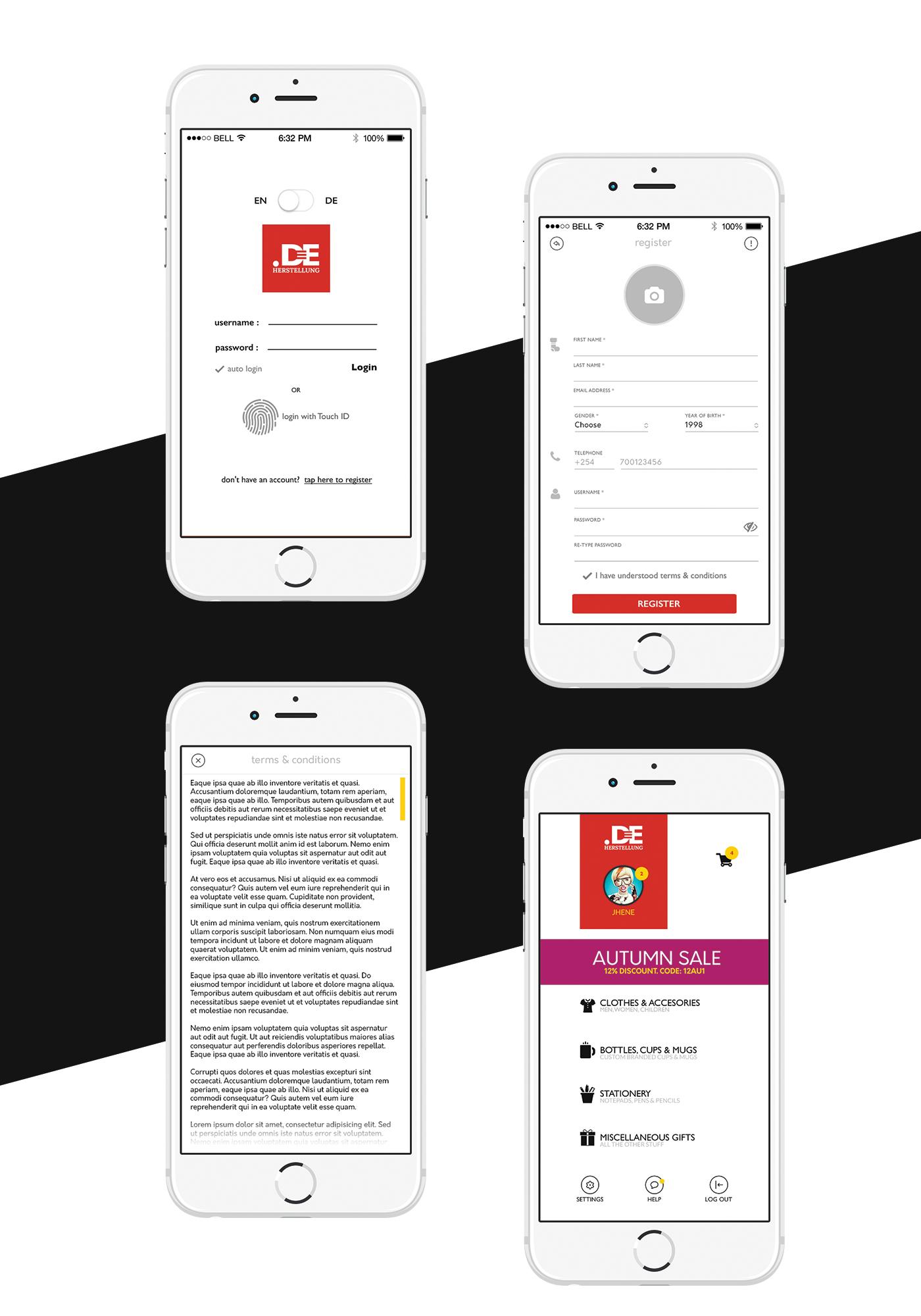 ios Ecommerce app ui kit UI photoshop psd shop store