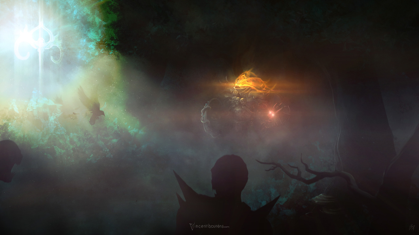 Path Of Exile chivalry forest bloom Dark Fantasy digital painting vincent baurens