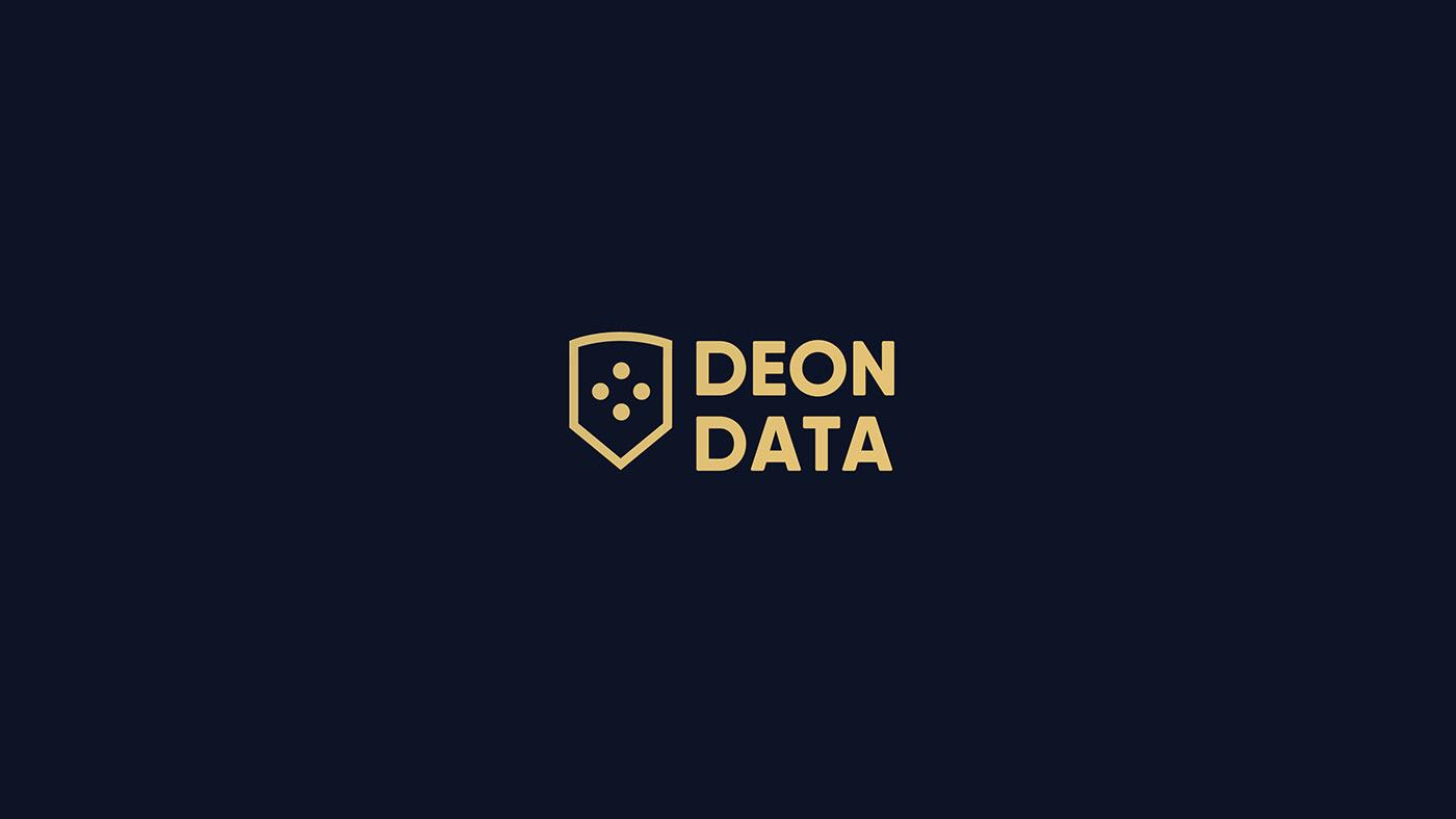 GDPR European Union data security Data Deon Data Startup Farms brand identity branding  logo Technology