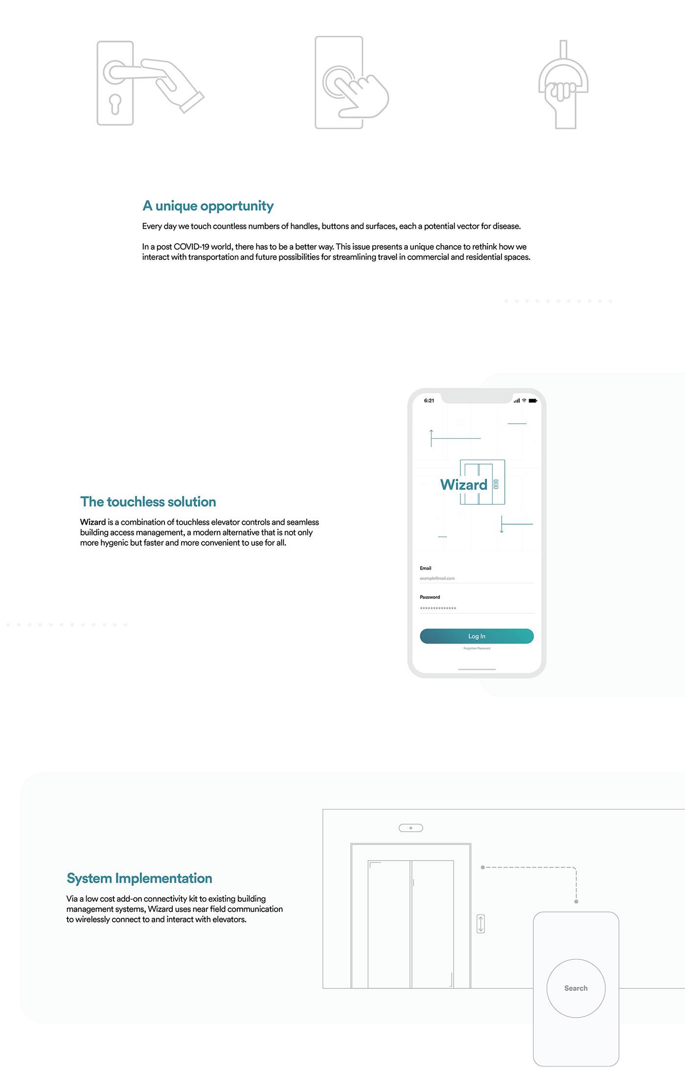 animated app buildings Coronavirus COVID-19 elevator iphone MoGraph smartwatch wireless