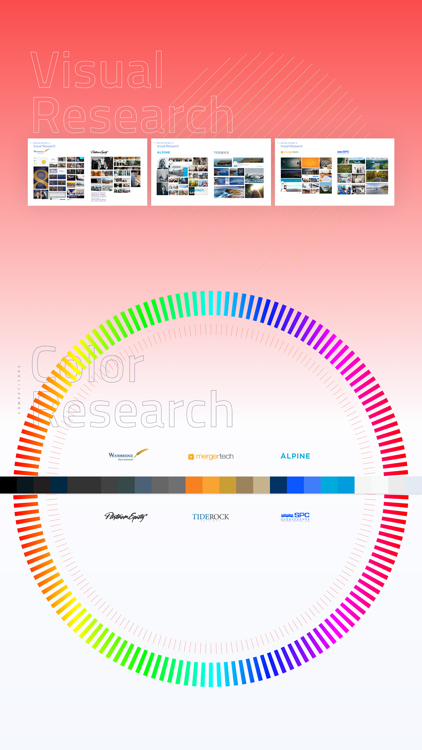 Competitors visual research and color research