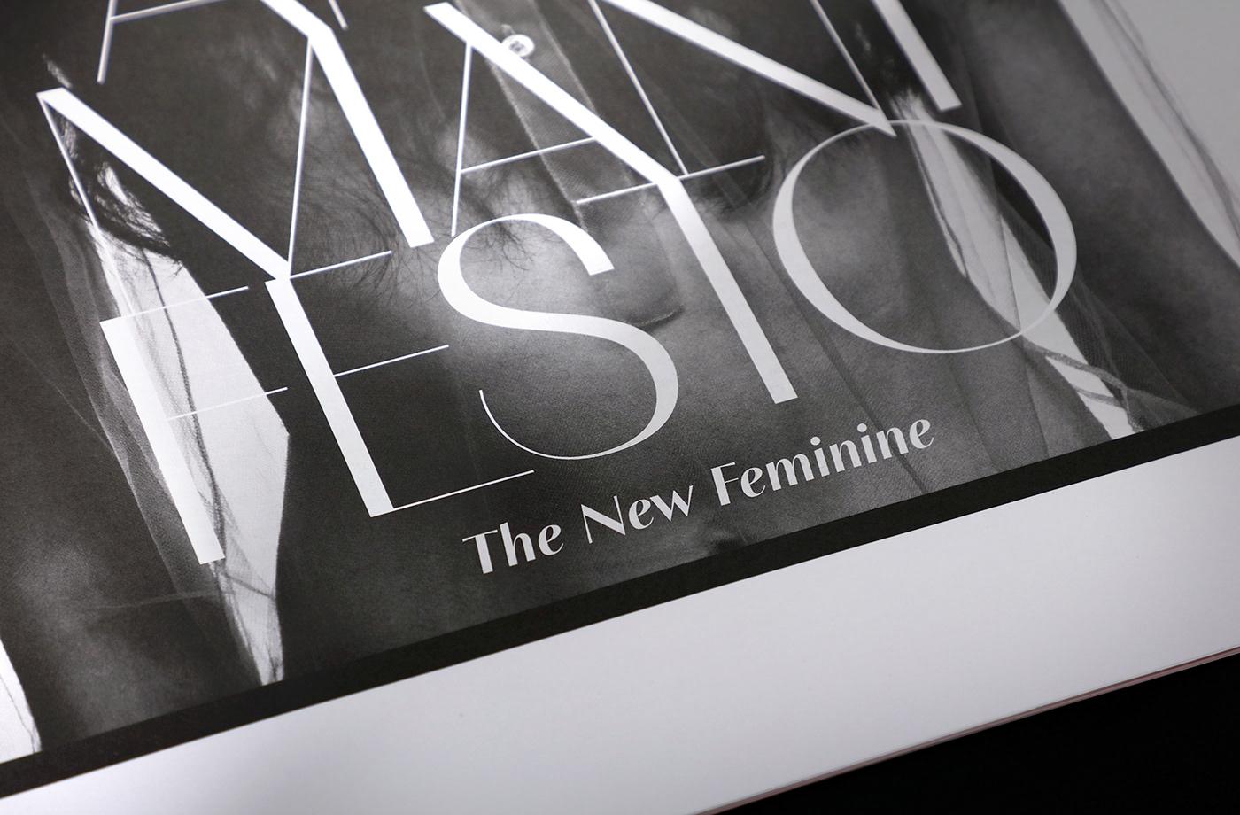 typographic compendium publication Typeface Fashion  fashionable feminine edgy large edition