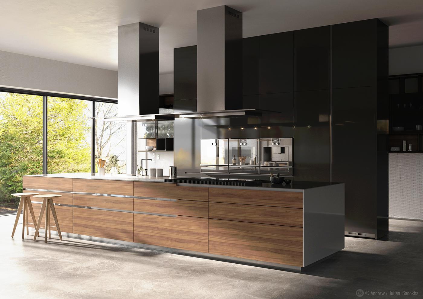Poliform varenna kitchen on behance for Varenna kitchen