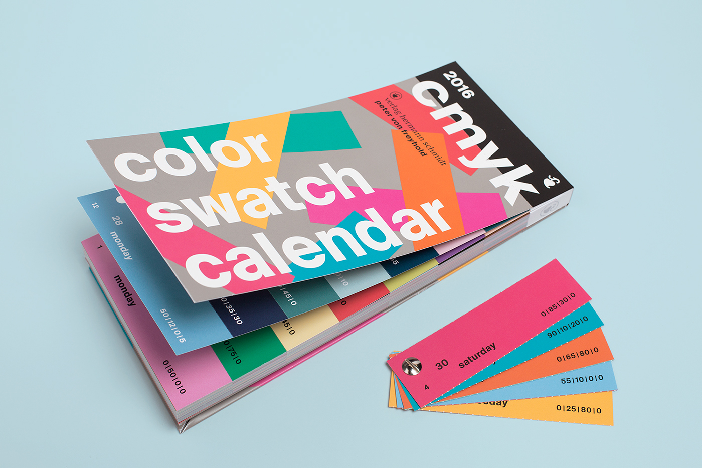 color swatch calendar 2016 on behance - Color Swatch Book