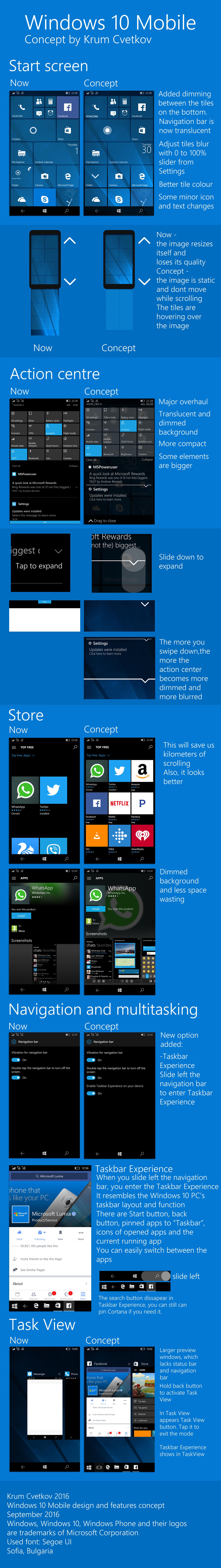 windows UI ux GUI phone windows phone windows 10 mobile Microsoft windows 10 concept