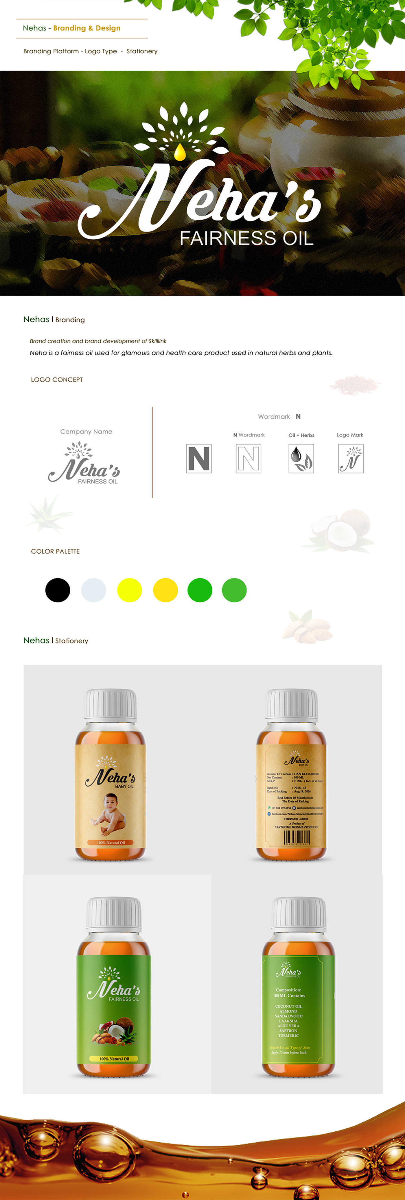 Packaging ILLUSTRATION  cosmetics oil graphic design  product logo Icon brand color