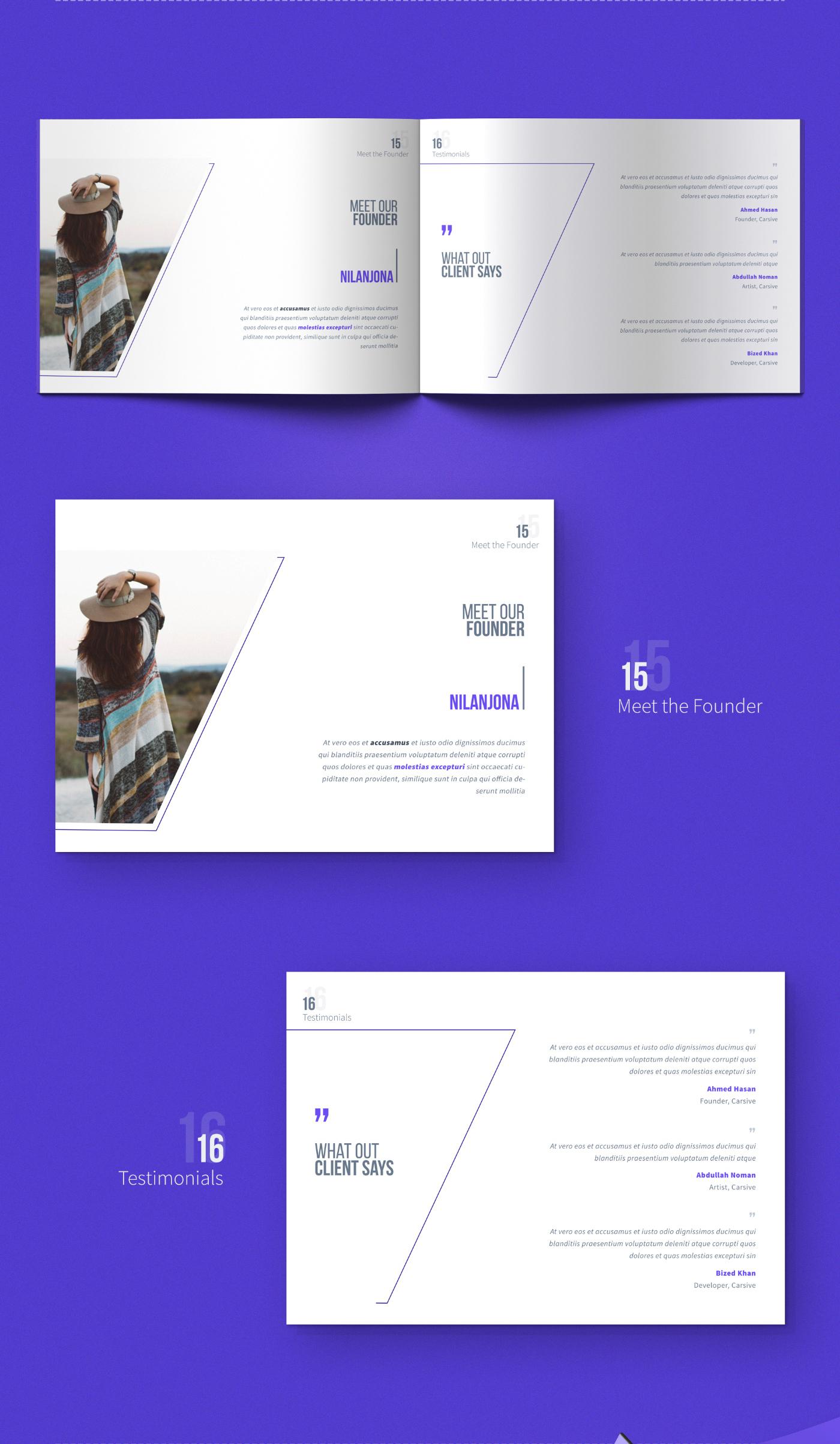 brochure magazine freebie download psd print template