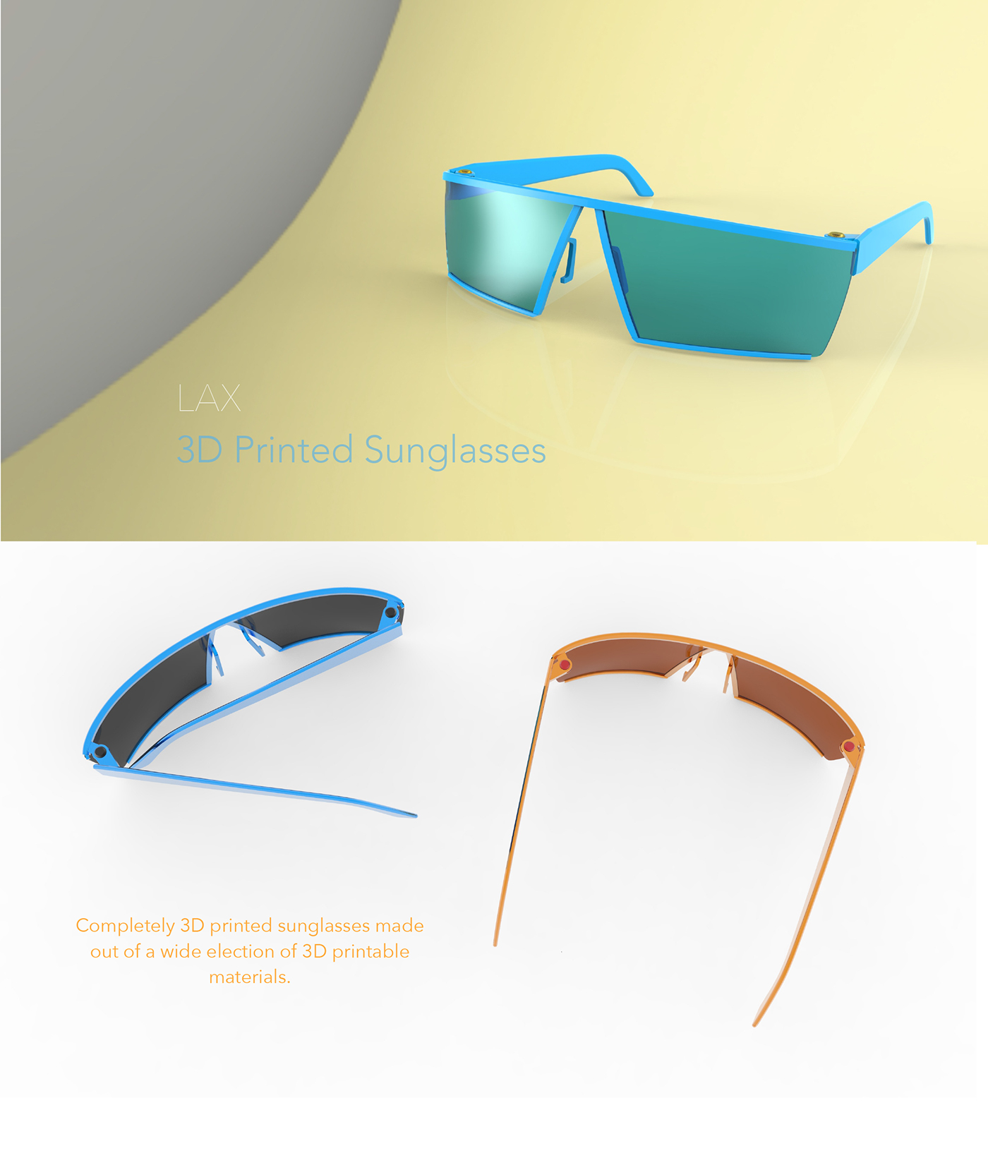 graphic about Sunglasses Printable called 3D Printable Sungles upon Behance