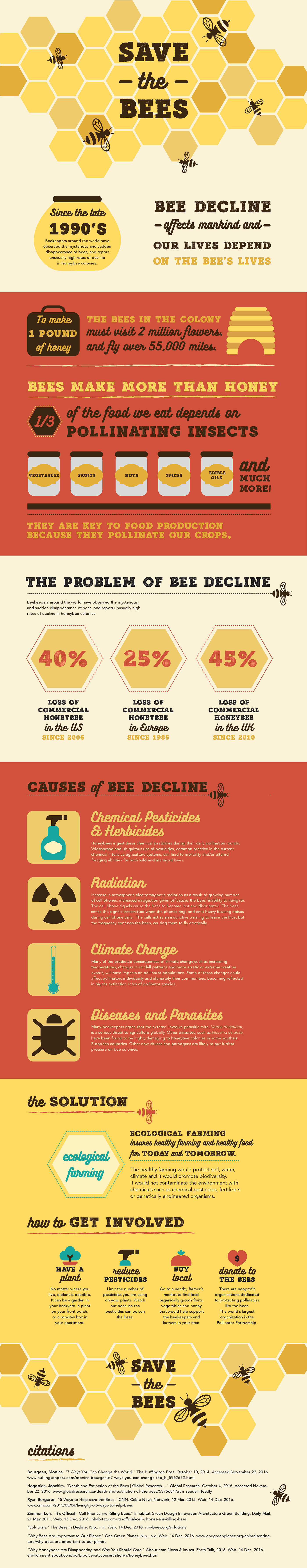 environment honeybees save the bees Go Green bees environmental Nature Extinction Bee Infographic bee extinction