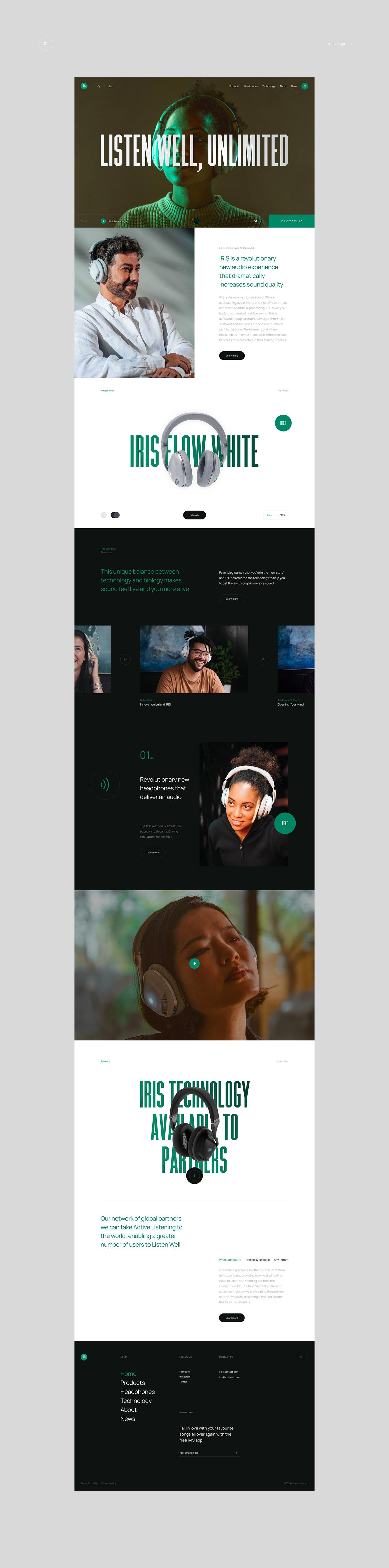 animation ,headphone,interaction,UI,ux,Interface,Webdesign,Website,Ecommerce,interactive