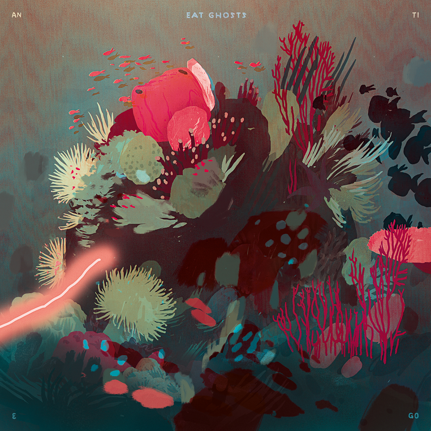 deep sea fish coral reef vinyl cover rock Nature Colourful  Ocean