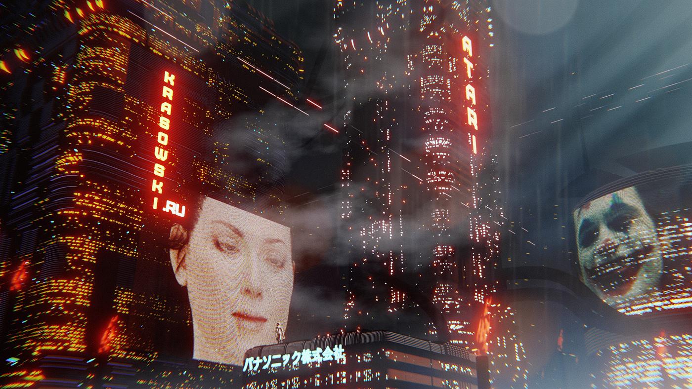 Blade Runner style poster by Stanislav Krasowski