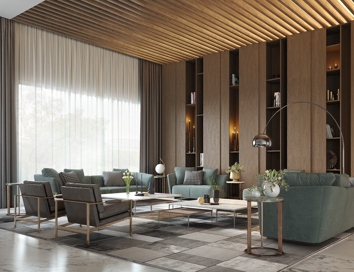 Apartments in saudi arabia part 2 on behance for Interior designs for apartments in hyderabad