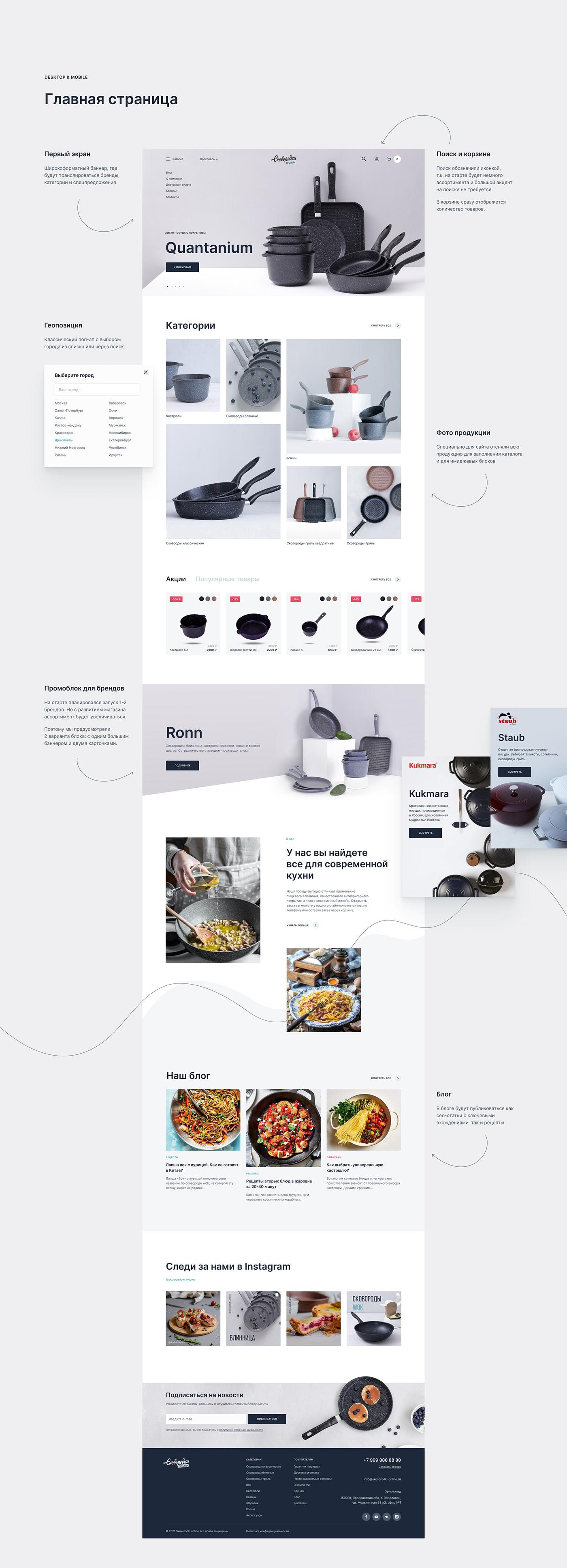 cooking dishes Ecommerce kitchen shop store интернет-магазин