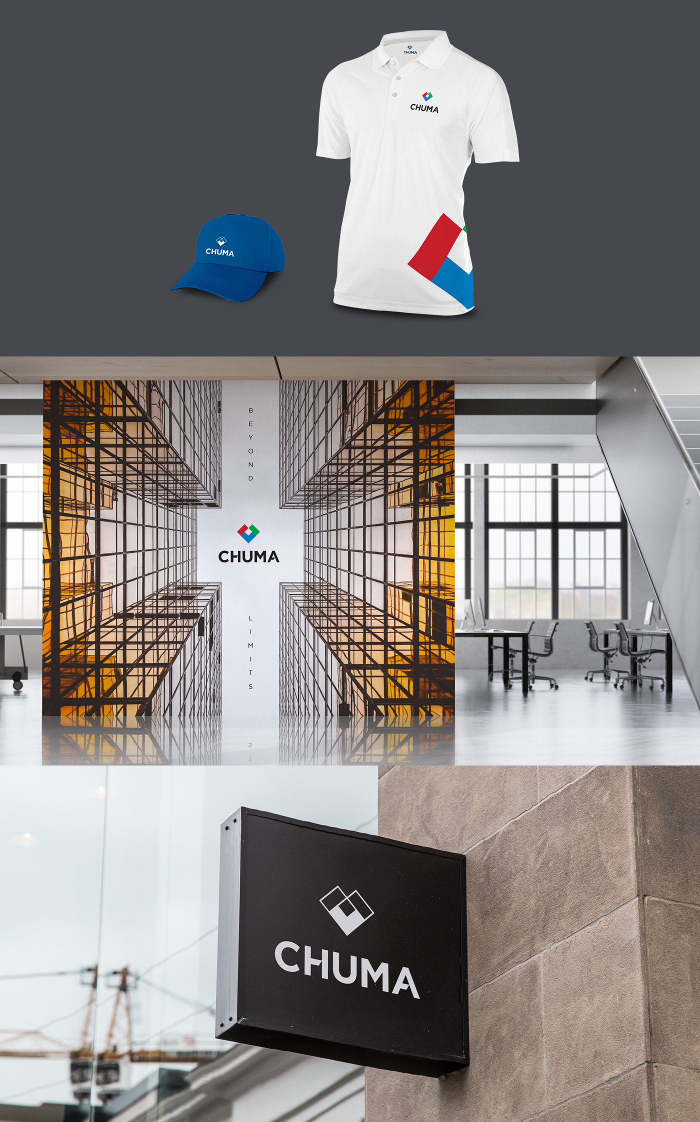logo branding  identity Stationery construction infrastructure tourism energy solar blocks