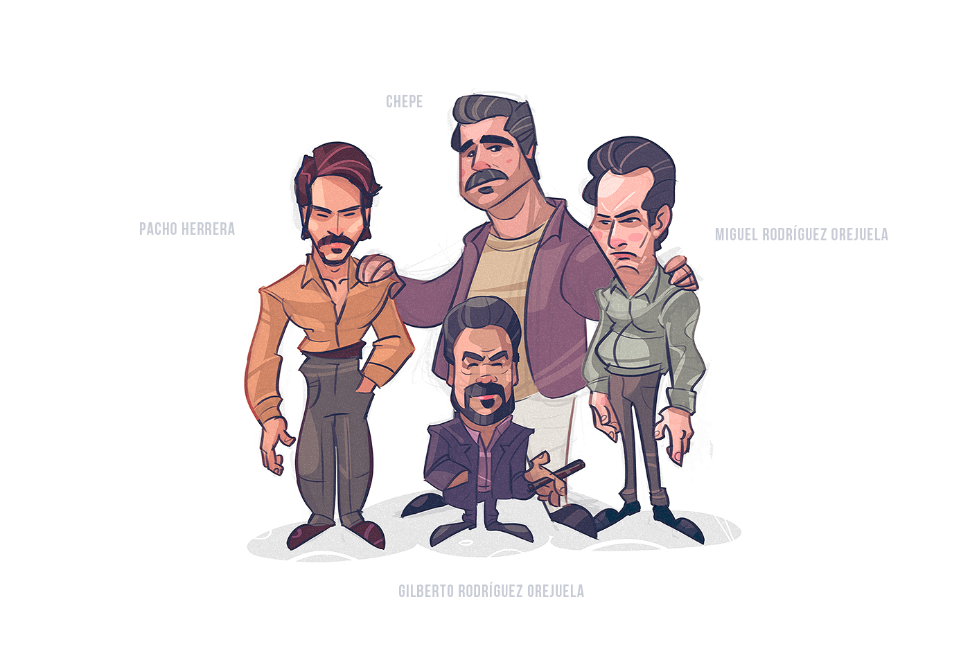 cartoon gangsta gangster mafia Fun characterdesign Character narcos PabloEscobar