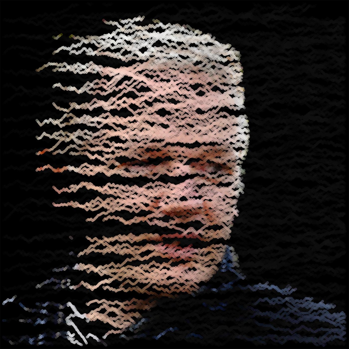 algorithmic art julian assange line art