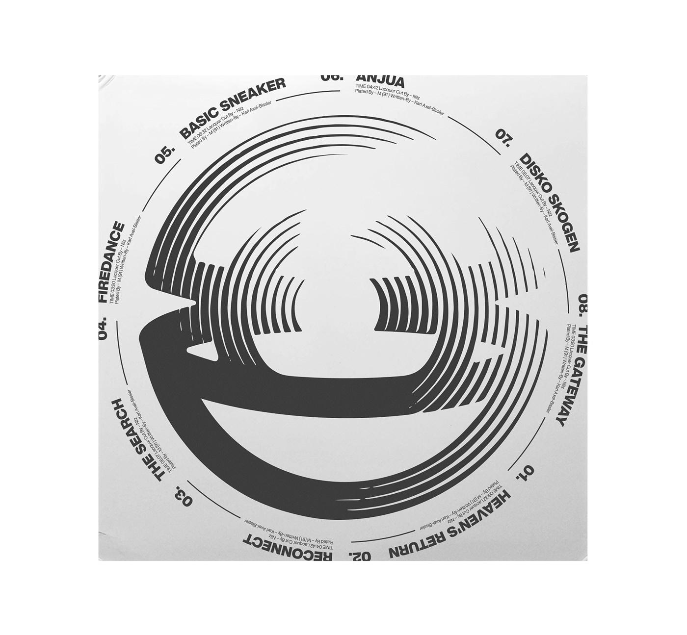 cover dj music type typography   vinyl house modern techno