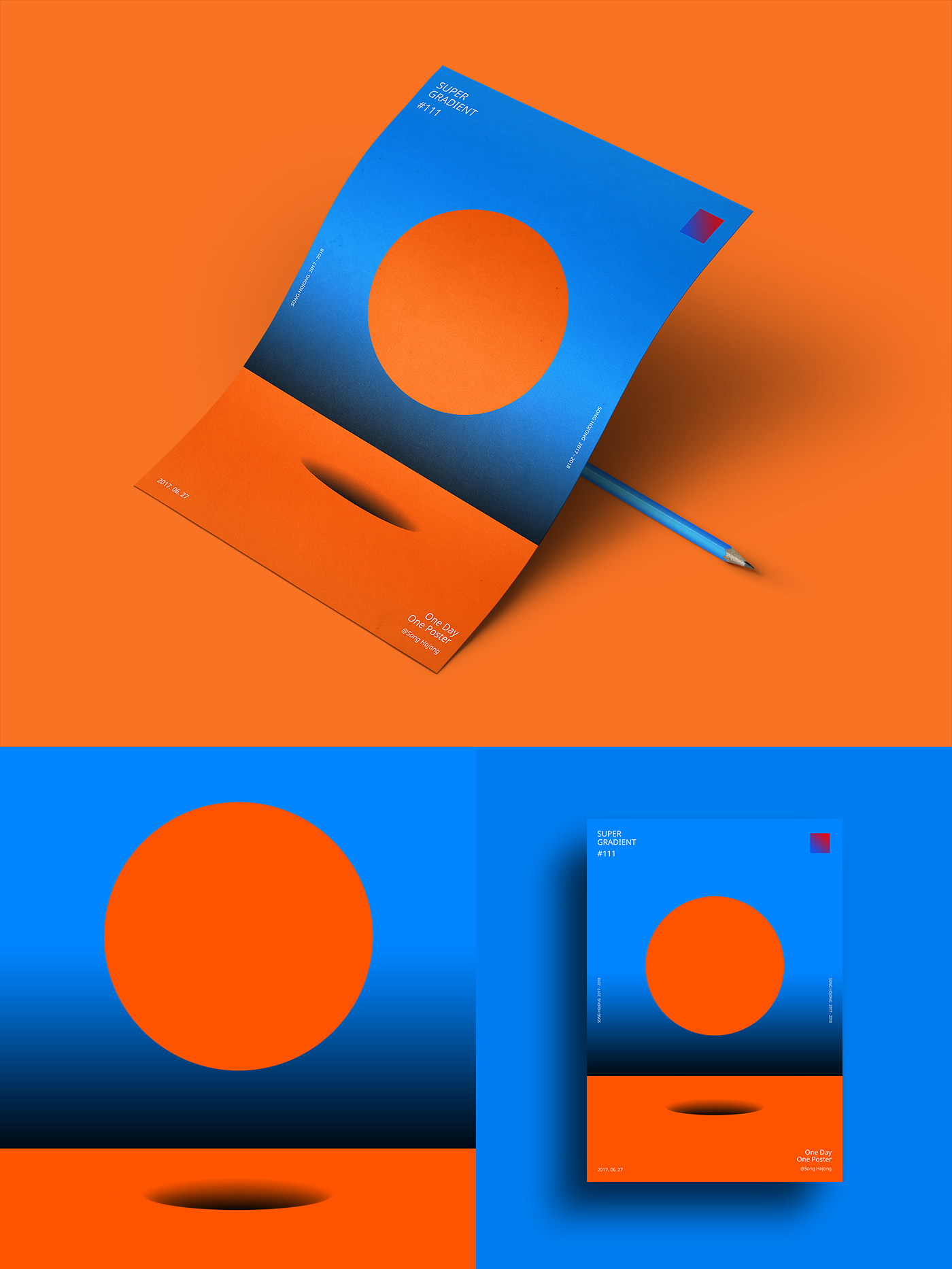 geometric light contrast abstract daily adobeawards poster gradient