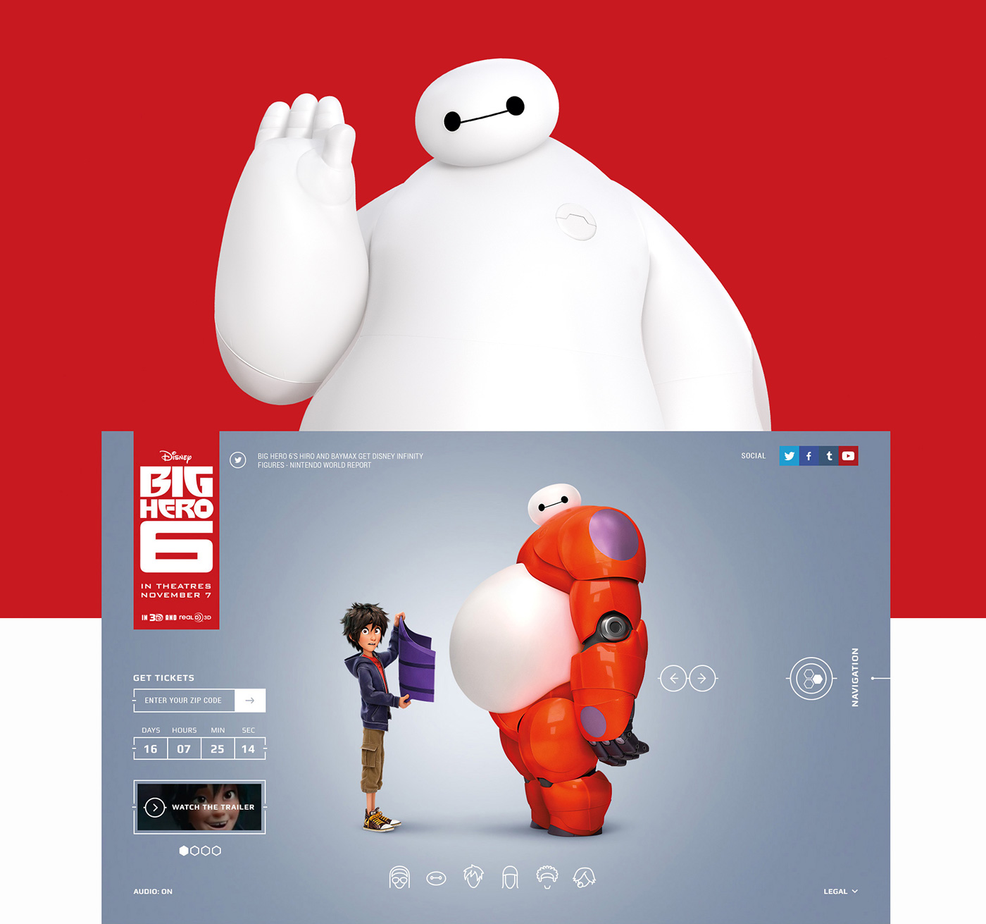 big Hero six disney watson interactive animations Cartoony super SuperHero