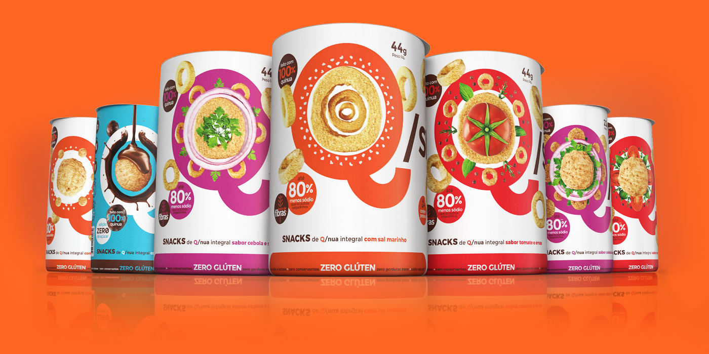 package design  Character qsnack quinoa plantfood healthyfood healthy fitness snack equitydesign packages