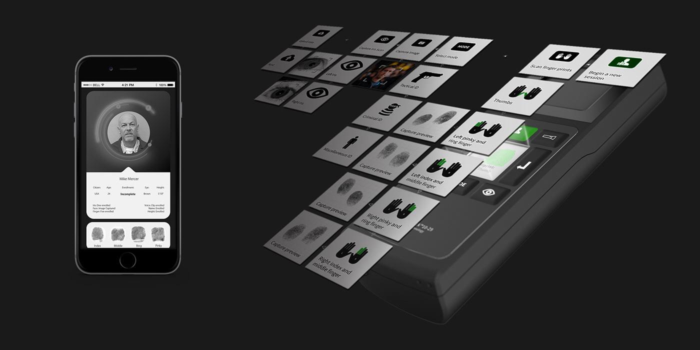 biometric mobile device fingerprint scanning