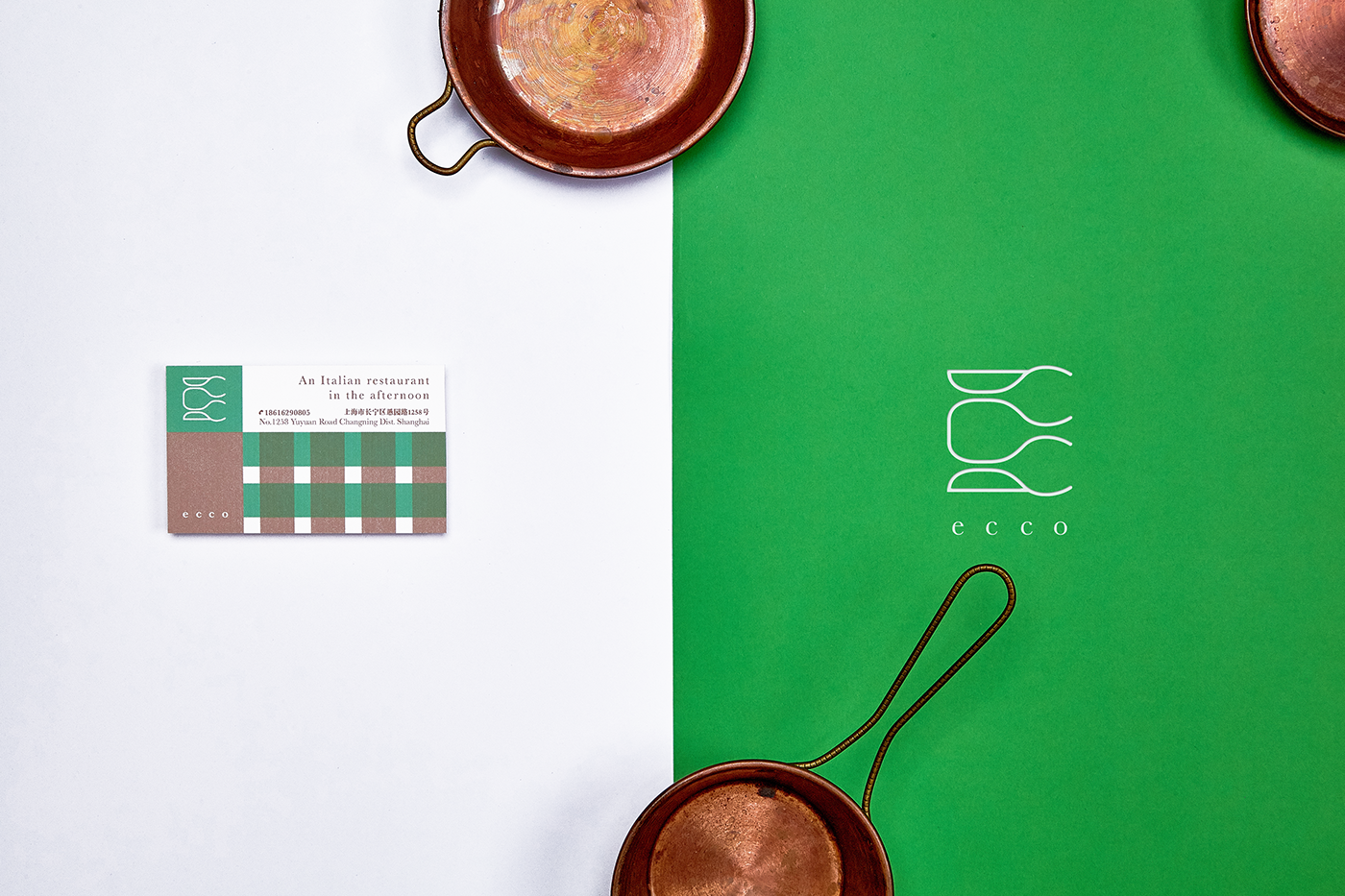 ecco restaurant & bar VI design on Behance