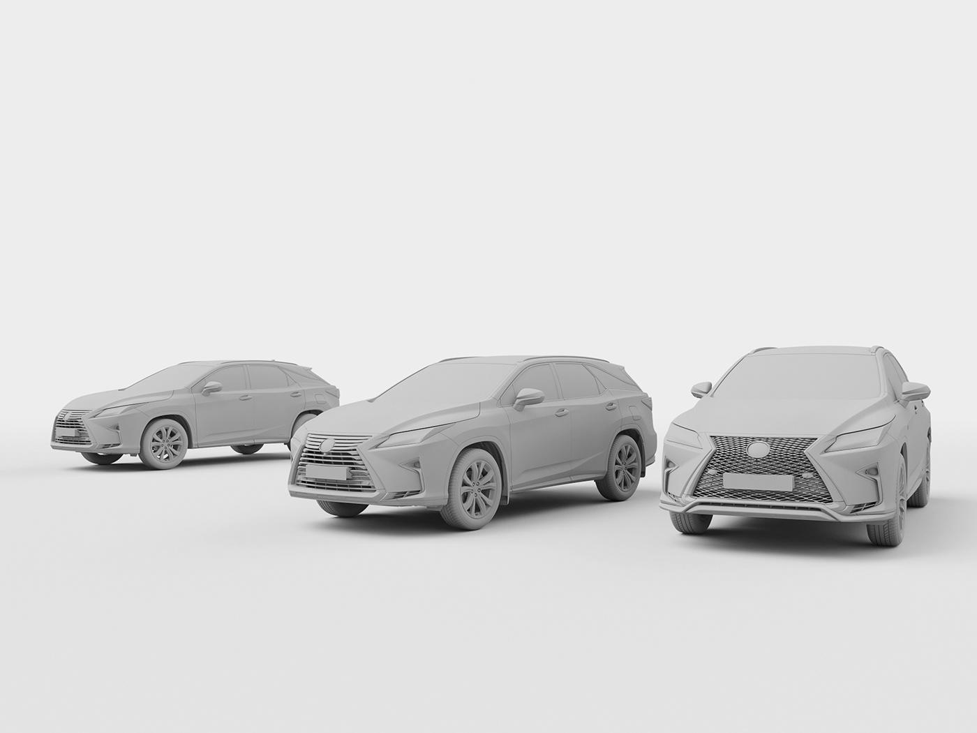 Lexus 3D car CG retouching